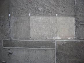 Reinigungsproben im Steinbereich Trocken und feucht